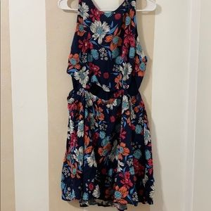 Forever 21 Floral Cut Out Dress